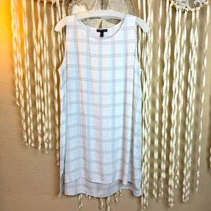 SOLD Eileen Fisher White Gray 100% Silk Large